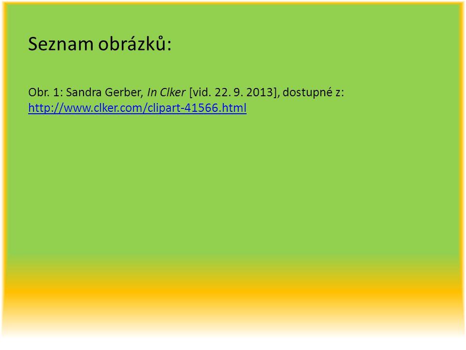 Seznam obrázků: Obr. 1: Sandra Gerber, In Clker [vid.